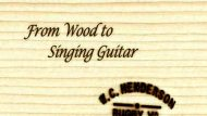 From Wood to Singing Guitar
